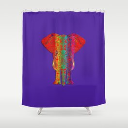 Rainbow Ganesha (Purple Background) Shower Curtain