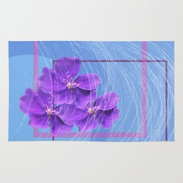 violet abstract Rug
