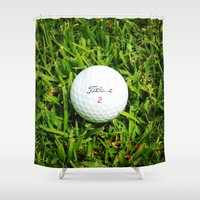 golf Shower Curtains featuring GOLF by Cooper Designs
