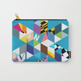 Collage Snowflake Carry-All Pouch