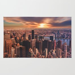 New York City Sunset View Rug