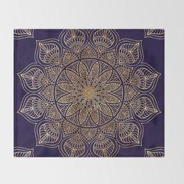 Gold Mandala Throw Blanket