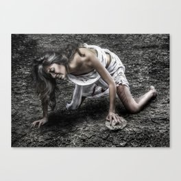 The pain of sin Canvas Print