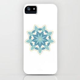 Sacred Geometry Cosmic Orb Blue iPhone Case