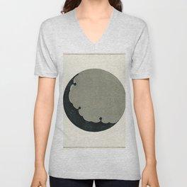 Moon  from Bijutsu Sekai (1893-1896) by Watanabe Seitei a prominent Kacho-ga artist Unisex V-Neck