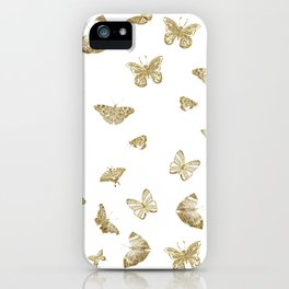 Golden Butterfly Dreams iPhone Case