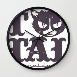 TTAL cat purple Wall Clock
