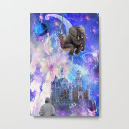 Space elephant Metal Print