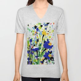 Deep In The Meadow 2 by Kathy Morton Stanion Unisex V-Neck