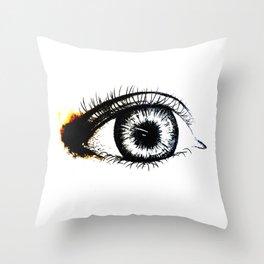 Looking In #1 - Original sketch to digital art Throw Pillow