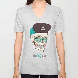 Hell Yeah Skull Unisex V-Neck