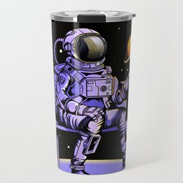 astronauts and planetary sweets Travel Mug