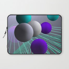 converging lines and balls -4- Laptop Sleeve