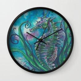 Seahorse Watching Wall Clock