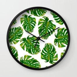 Guatemala - Monstera Deliciosa Jungle Wall Clock