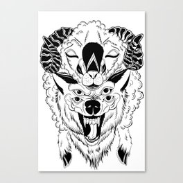 The Wolf In Sheep's clothing Canvas Print