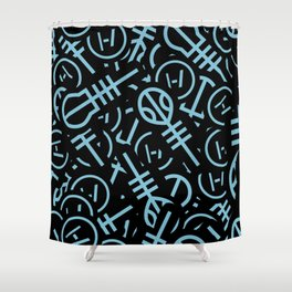 TØP Stickers - Original Logo Blue Shower Curtain