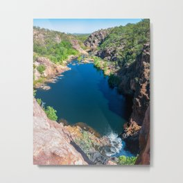 Panoramic view from above at Edith Falls, Australia. Metal Print