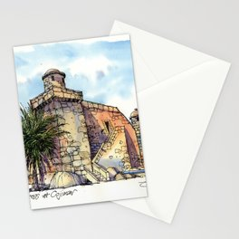 Hemingway's Cuba:  Fortress at Cojimar Stationery Cards