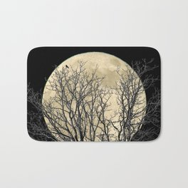 Tree with Crow Against Full Moon A181 Bath Mat