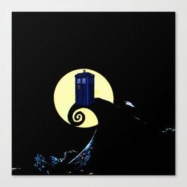 tardis  under the full moon Canvas Print