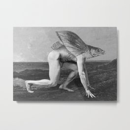 Homo Piscis Volens (Flying Fish Man) Metal Print
