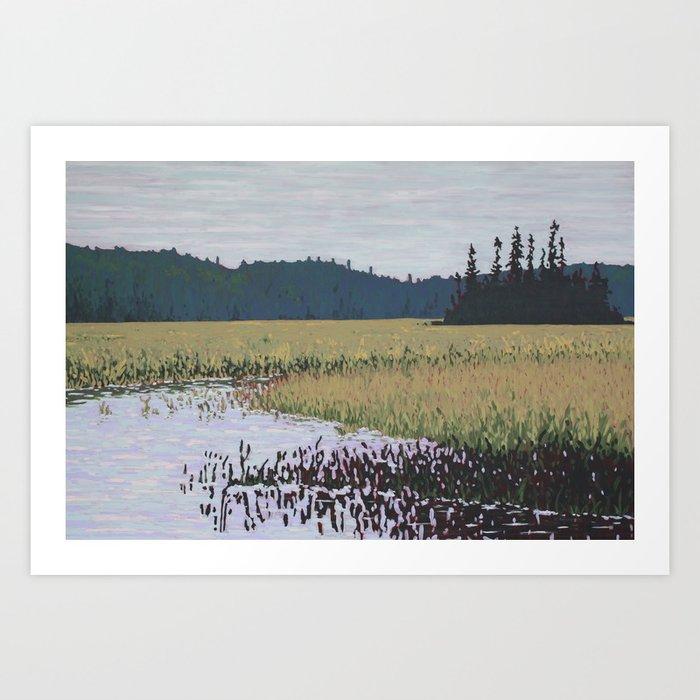 The Grassy Bay, Algonquin Park Art Print