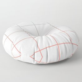 Large Checks Peach Echo & Limpet Shell Gradient Pattern Floor Pillow