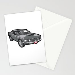 1969 Boss 429 Mustang Oldtimer Youngtimer Gift Stationery Cards