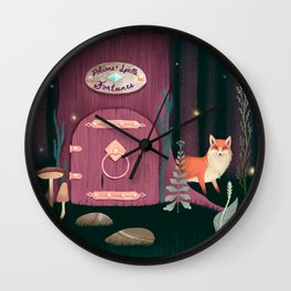 Sorcerer Of Woodland Charms Potions Spells And Fortunes Wall Clock