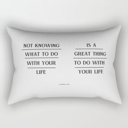 Notknowing Rectangular Pillow