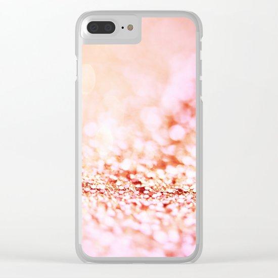 Pink shiny glitter - Sparkle Girly Valentine Backdrop on #Society6 Clear iPhone Case