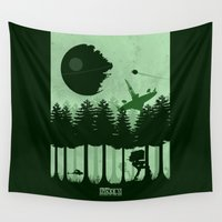 return Wall Tapestries featuring Return of the Jedi by Mateus Quandt