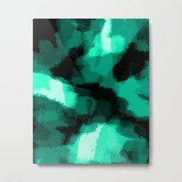 Emmy - Emerald green abstract art Metal Print