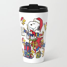 santa snoopy Travel Mug