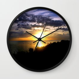 Sunrise over Port Philip Bay - Melbourne Wall Clock
