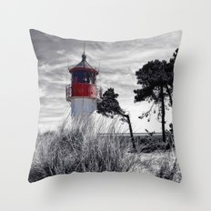 beacon fire panorama Throw Pillow