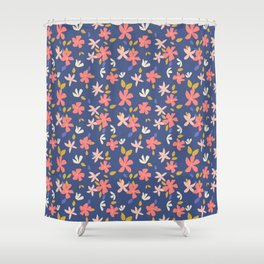 Dancing Florals Shower Curtain