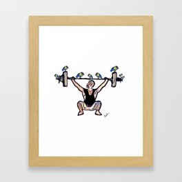 Birds on a Barbell Framed Art Print
