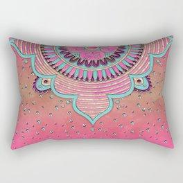India Pink Mandala Pattern Rectangular Pillow