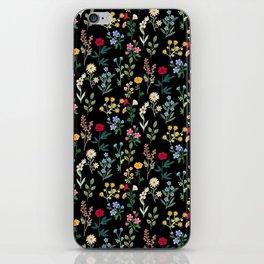 Spring Botanicals Black iPhone Skin