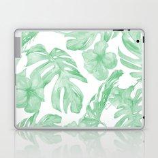Tropical Island Republic Green and White Laptop & iPad Skin