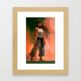 Karate Girl 3 Framed Art Print