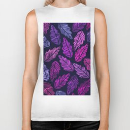 Colorful leaves III Biker Tank