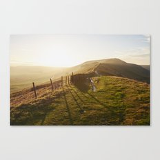 Rushup Edge at sunset. Derbyshire, UK. Canvas Print