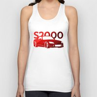 honda Tank Tops featuring Honda S2000 - classic red - by Vehicle