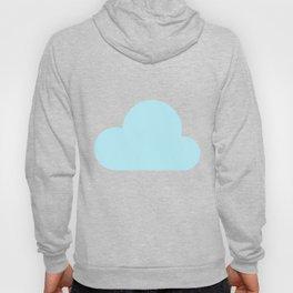 White clouds on blue background nursery pattern Hoody