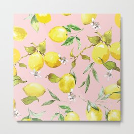Watercolor lemons 9 Metal Print