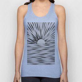 Minimal Sunrise / Sunset Unisex Tank Top