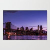 brooklyn bridge Canvas Prints featuring Brooklyn Bridge by hannes cmarits (hannes61)